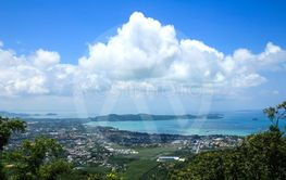 Phuket View Point to see ocean view of Phuket ,Thailand.