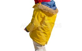 Kid With Winter Clothes Isolated Photo