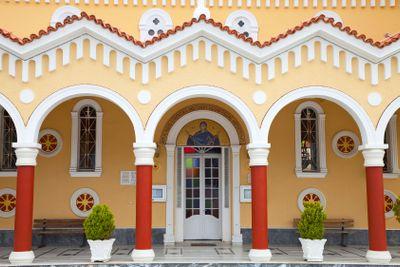 grèce; ioniennes, kefalonia : argiostoli, église