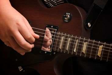 Musician Plays His Gibson