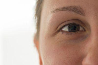 Woman eye in detail