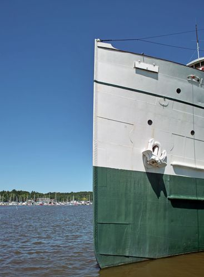 Steam Ship Bow and Marina