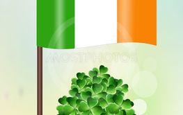 Irish flag for St. Patrick's Day