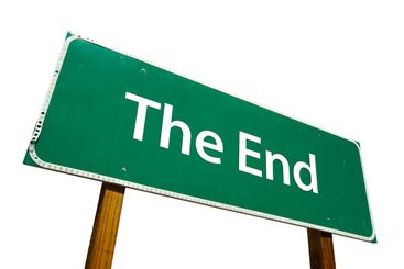 The End Road Sign with Clipping Path