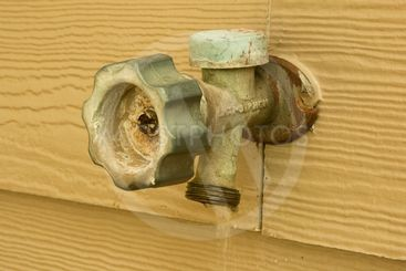 outside faucet leaking and wasting water