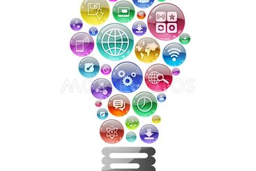Lamp consisting of apps icons