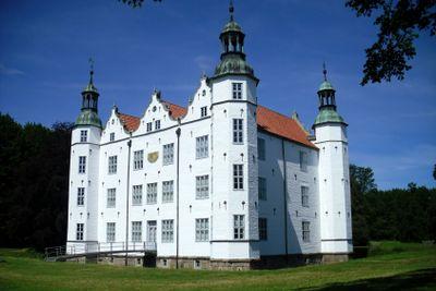 Old white ancient castle