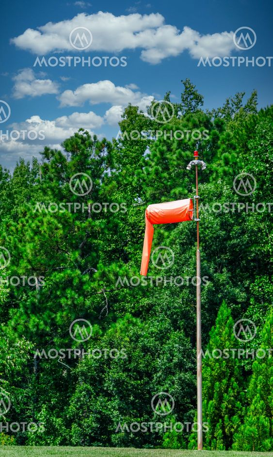 A Windsock with LIght Winds