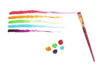 Rainbow Paint Strokes
