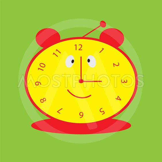 background with smiling clock for baby