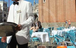 The black waiter on the Piazza San Marco in Venice