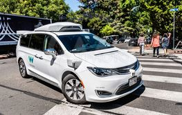 July 16, 2019 Mountain View / CA / USA - Waymo self...