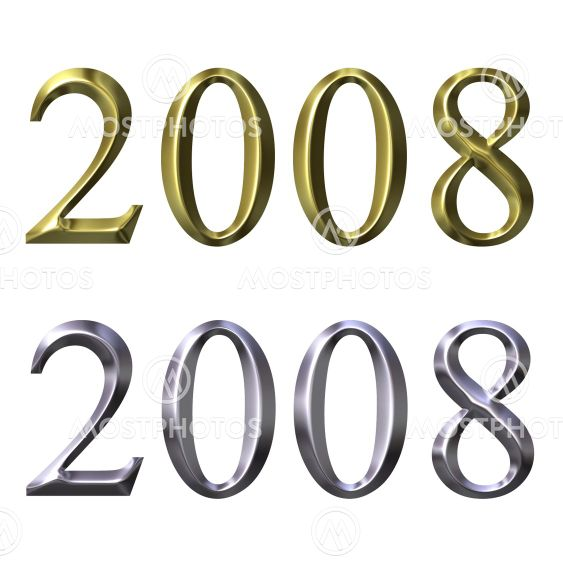 Year of 2007 in 3D Silver and Gold