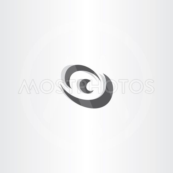 eye vector logotype black icon design