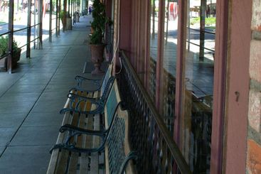 Small Town Covered Walkway