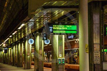Perrong på Stockholms Centralstation