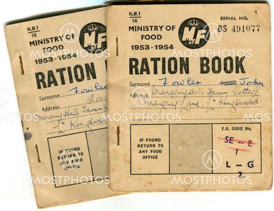 British food ration books