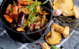 Roasted Chanterelles Ragout