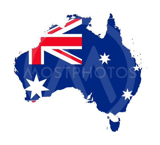 Australia Flag On Map By Speedfighter17 Mostphotos