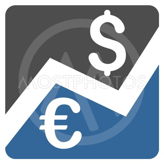 Forex Market Chart Flat Vector Icon