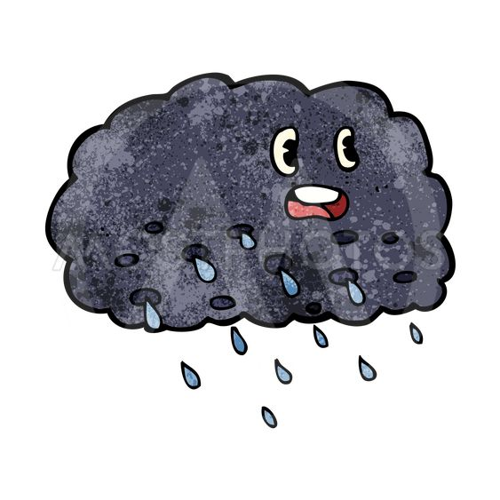 cartoon rain cloud