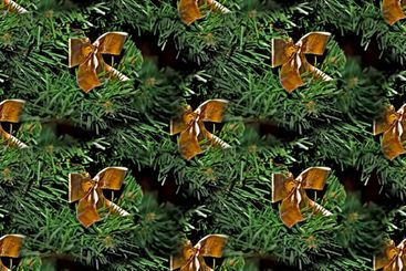 New Year's seamless texture, pattern - spruce branches...
