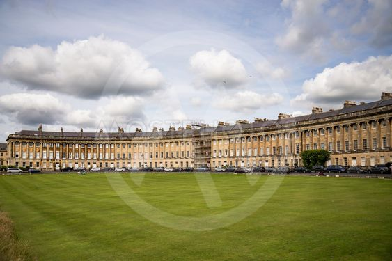 The Circus, famous circular Royal Crescent building in Bath