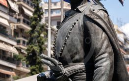 Statue of Kritikos of Makedonia, a national hero in...