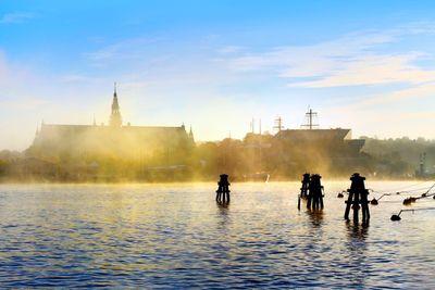 An autumn view of Nordiska Museet , Stockholm city