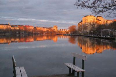 Spegel över kungsholms strand