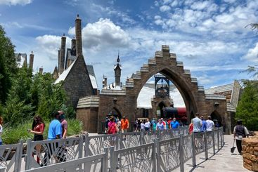 The entrance to the Hogsmeade at Wizarding World of...