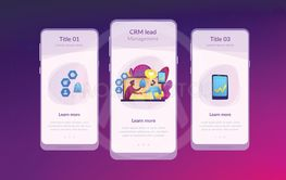 Customer Relationship Management app interface template.