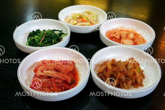 Bowls of kimchi