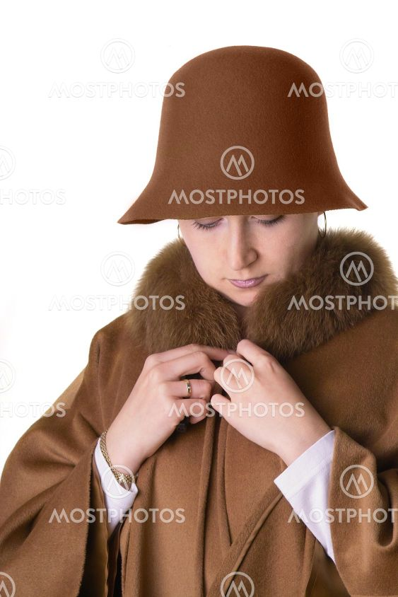 Lady in hat and coat