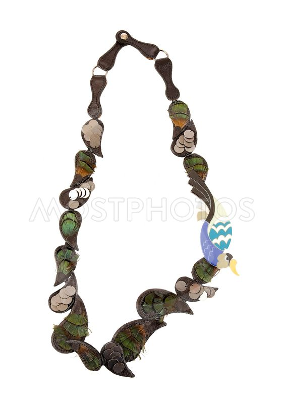 20357222c10f Ethnic feathers necklace