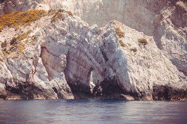 Sea caves on Zakynthos