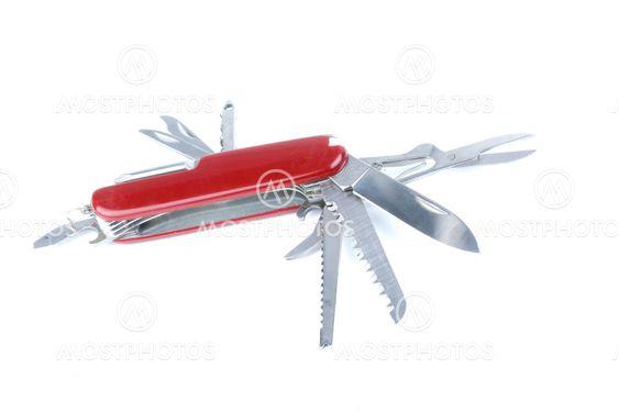 markedsføring rød schweiziske hær pocket knivværktøjet