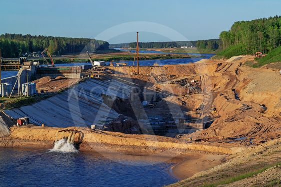 Construction of Vitebsk hydroelectric power...