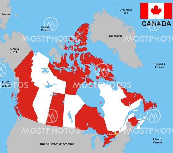 Kort Over Canada Fra Tudor Antonel Adrian Mostphotos