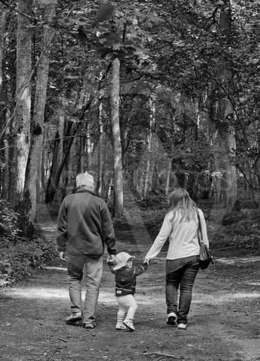 Grandpa', kid and mother