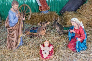 Nativity scene Cathedral of Cagliari, Sardina, Italy