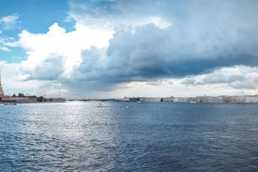 Saint Petersburg, Russia - August 2020. Panoramic summer...