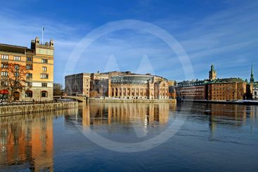 Stockholm and the Riksdag building