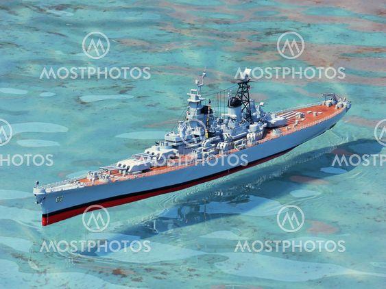 Modellen krigsskib