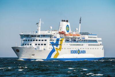 Passenger ship MS Eckero at sea
