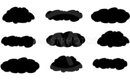 Clouds icon on white background