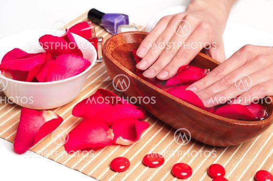 Hænder Spa. Manicure koncept