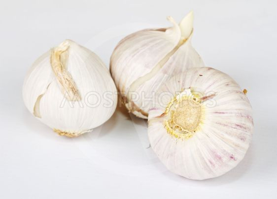 garlic bulb on the white isolate