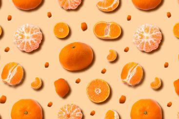 Ripe mandarin background