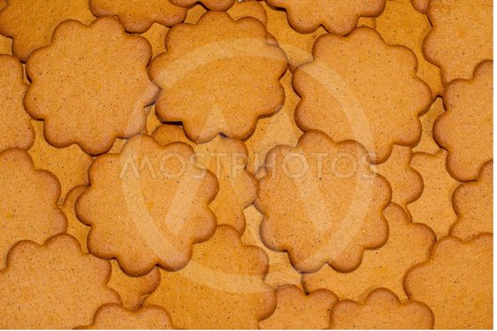 Gingerbread biscuit background circles